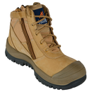 MONGREL BOOTS SC SERIES ZIPSIDER SAFETY ANKLE BUMP TOE WHEAT