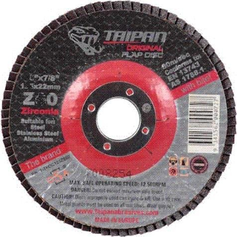 TAIPAN FLAP DISC ORIGINAL 115MM 4.5 INCH 60 GRIT TO-5014