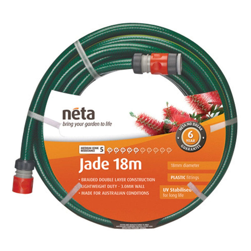 NETA GARDEN HOSE JADE FITTED 18MM