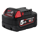 MILWAUKEE M18B5 5.0AH RED LITHIUM BATTERY