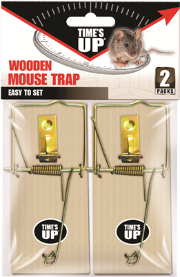 MOUSE TRAP WOODEN TIMES UP TWIN PACK