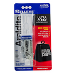 SELLEYS ARALDITE GLUE ULTRA CLEAR SYRINGE 24ML