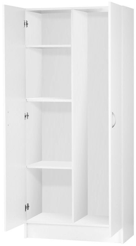 CUPBOARD UTILITY 2 DOOR WHITE FINISH