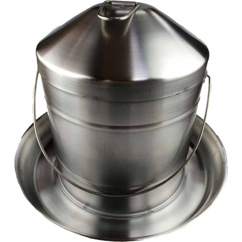 POULTRY DRINKER STAINLESS STEEL 9L