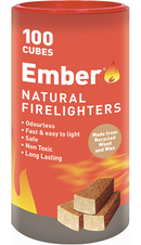 FIRE LIGHTERS NATURAL WOOD WAX 100 PACK