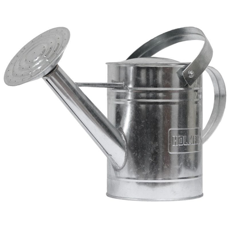 WATERING CAN GALVANISED 1.8L