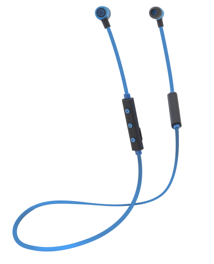 MOKI FREESTYLE BLUETOOTH EARPHONES BLUE