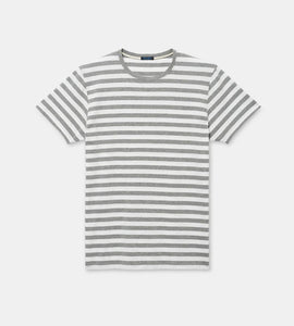 Patrick Assaraf - Grey/White Horizontal Stripe