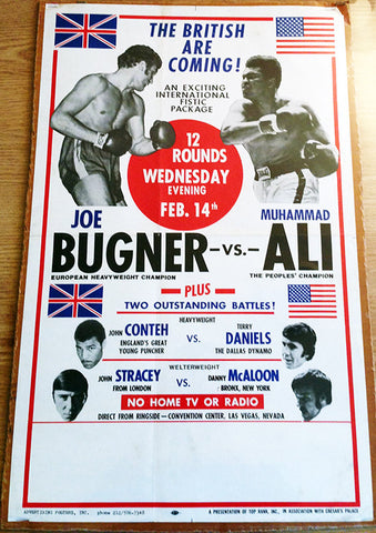 Muhammad Ali-Joe Bugner I Closed Circuit Boxing Poster (1973)