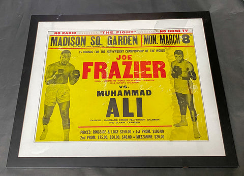 ALI, MUHAMMAD / JOE FRAZIER ON SITE POSTER 1971 (FRAMED)