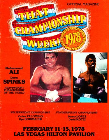 Muhammad Ali-Leon Spinks I Official Onsite Boxing Program (1978)