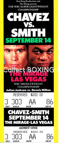 Julio Cesar Chavez-Lonnie Smith Full Onsite Ticket (1994)