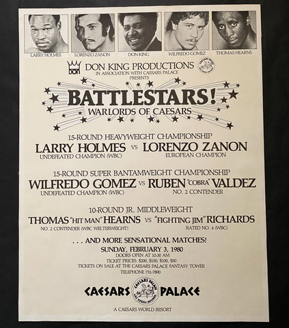 LARRY HOLMES-LORENZO ZANON ON SITE POSTER 1980