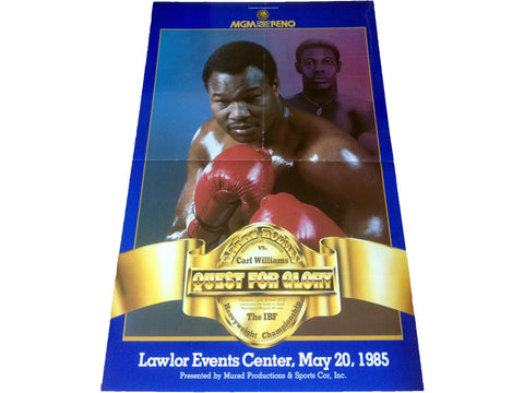 Larry Holmes-Carl Williams Official Onsite Boxing Poster (1985)
