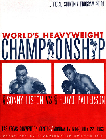 Sonny Liston-Floyd Patterson Official Onsite Boxing Program (1963)