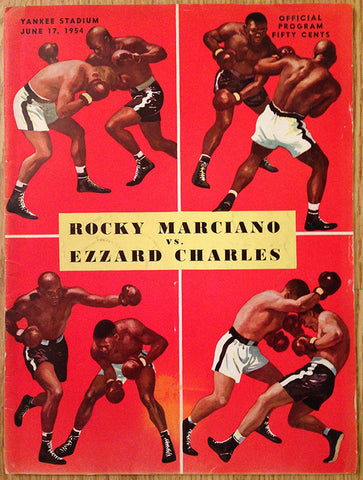 Rocky Marciano-Ezzard Charles I Official Onsite Boxing Program (1954)