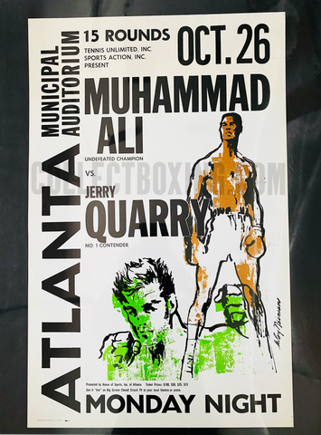 ALI, MUHAMMAD / JERRY QUARRY ONSITE POSTER ONSITE 1970