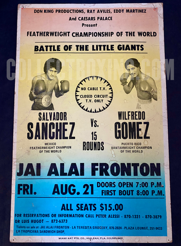 SANCHEZ, SALVADOR / WILFREDO GOMEZ POSTER CLOSED CIRCUIT 1981