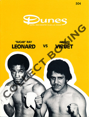 SUGAR RAY LEONARD-ADOLFO VIRUET OFFICIAL PROGRAM (1979)