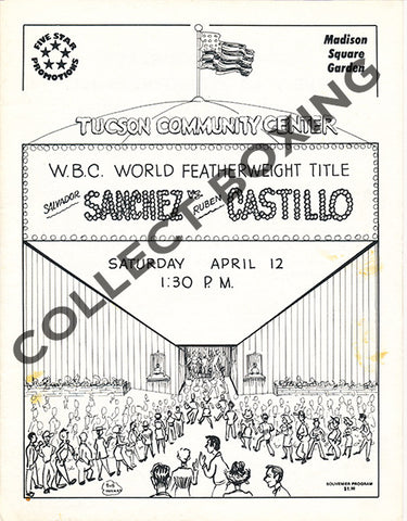SALVADOR SANCHEZ-RUBEN CASTILLO CLOSED CIRCUIT PROGRAM (1980)