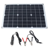 60W solar panel 12V/5V Double USB+10/20/30/40A Dual USB Solar Panel Regulator Controller ect for car yacht RV Lights Charge