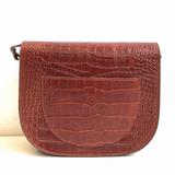 Enzo Croco Marron - Sac En cuir