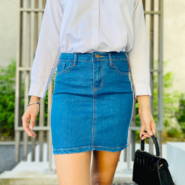 Mini-jupe en denim