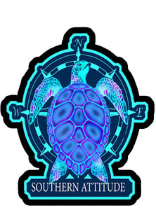 Nautical Turtle Decal
