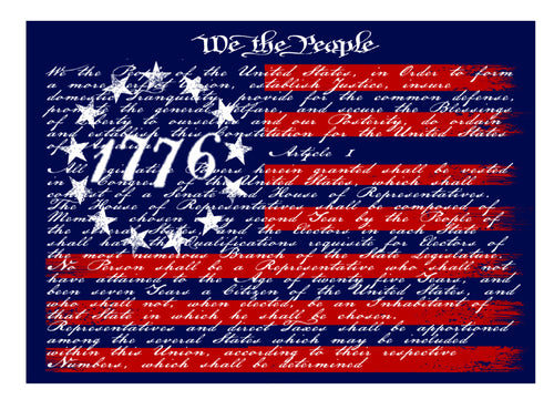 1776 Flag Decal