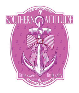 Pink Bow Anchor Decal