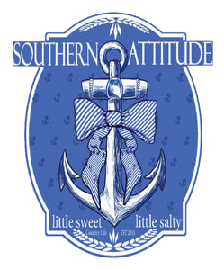 Blue Bow Anchor Decal
