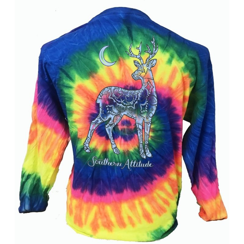 Deer Moon - Tie Dye Neon Rainbow