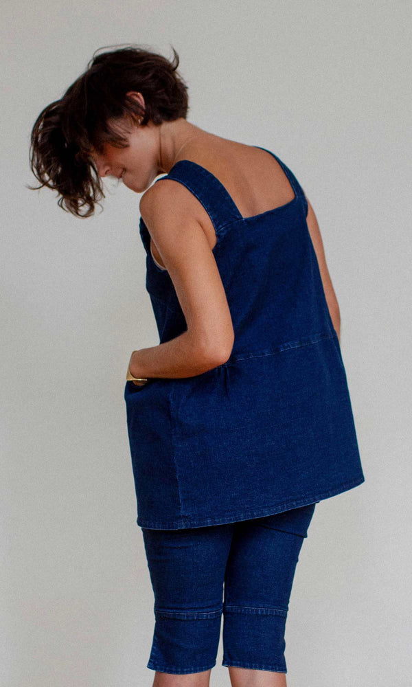 CAMI BLOUSE - DENIM