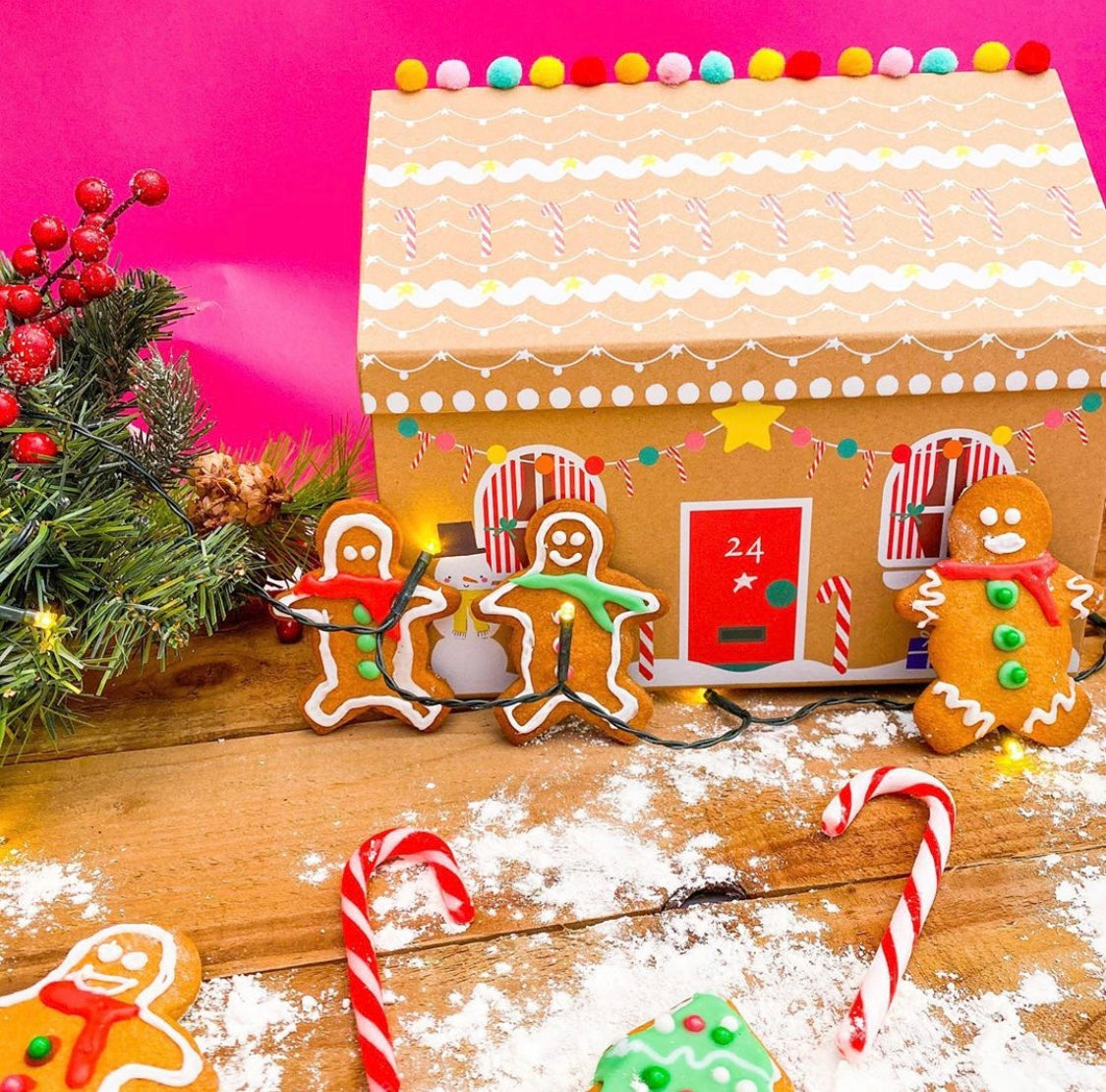 Jolly gingerbread baking kit