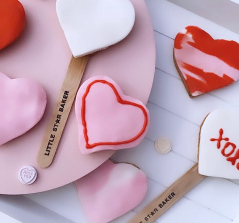 Valentines LOVE Heart biscuit baking kit