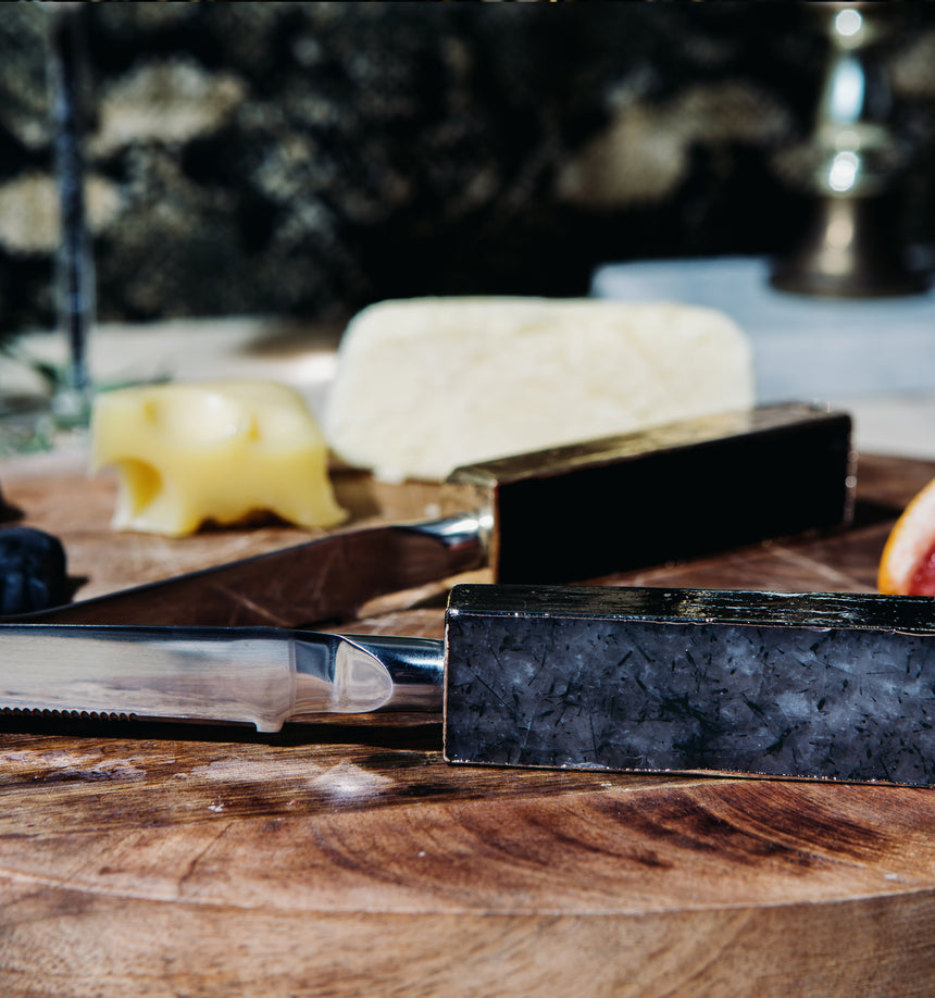 Black Tourmaline Soft Cheese Knife