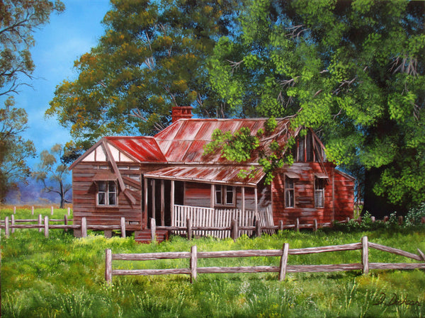 Abandoned Old Farmhouse Limited Edition Giclee Print, Limited Edition Print by Debra Dickson Artist