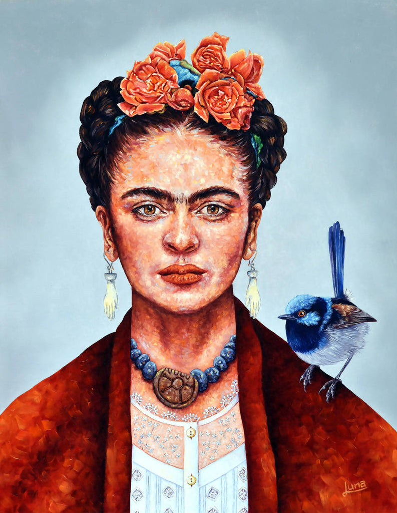 Frida Mania, Oil Painting by Luna Vermeulen Artist