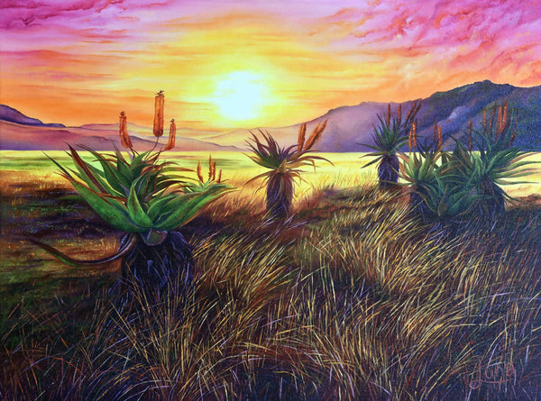 Aloe Aloe Is Anybody There?, Oil Painting by Luna Vermeulen Artist