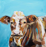 Ruby, Acrylic Painting by Michelle Keighley Artist