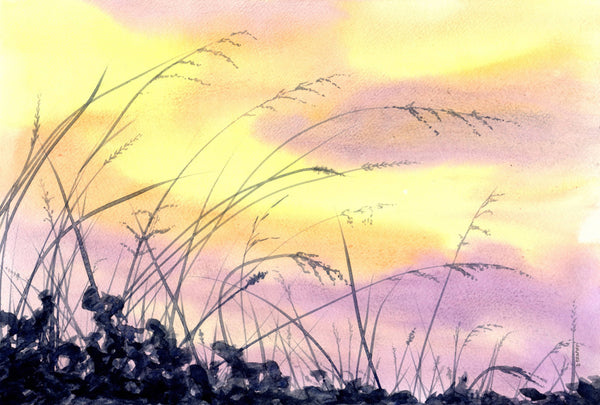 In The Breeze (now framed), Watercolour Painting by Debbie Brophy Artist