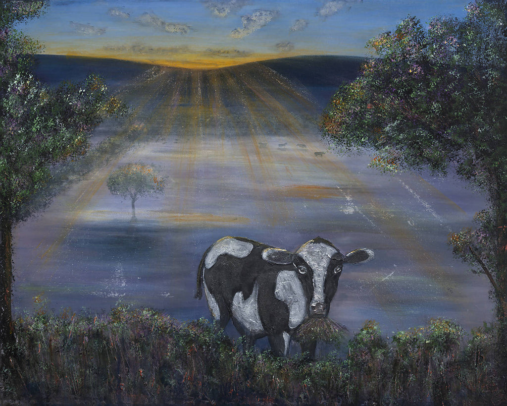 Morning Has Broken, Acrylic Painting by Kerry Sandhu Artist