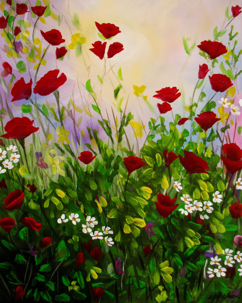 Wildflowers 4, Acrylic Painting by Debra Dickson Artist