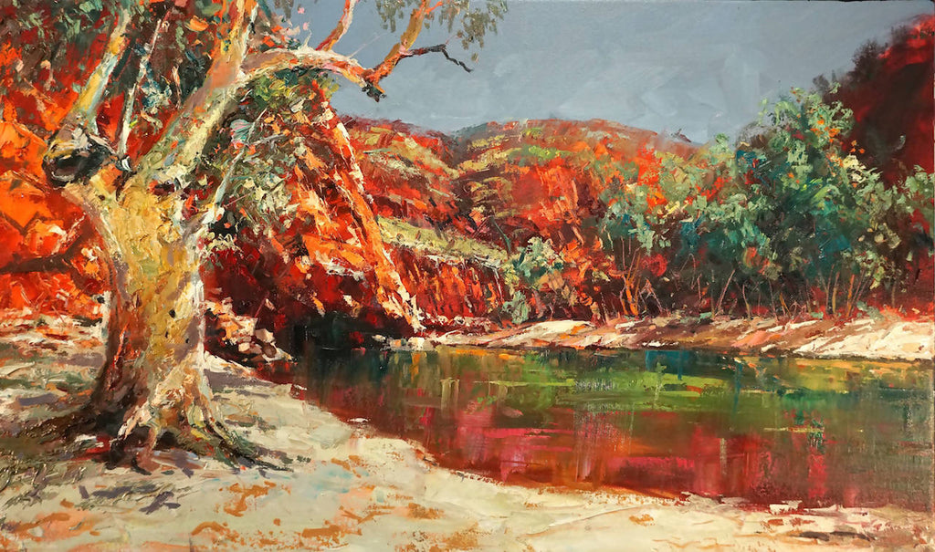 Ormiston Gorge 4, Oil Painting by Jos Coufreur Artist