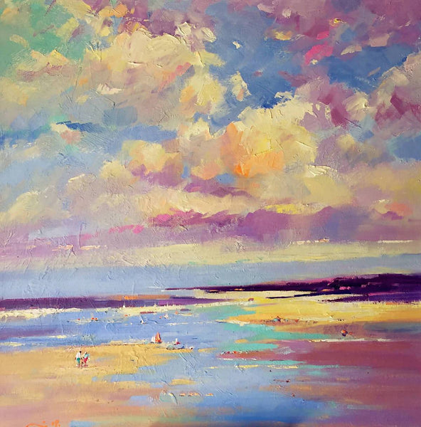 Private Beach VIII, Oil Painting by Li Zhou Artist