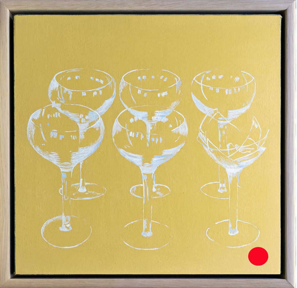 Champagne, broken (SOLD), Acrylic Painting by Steve Munro Artist