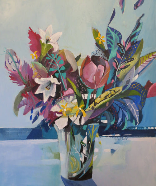 Abstract Still Life - Tulip with Lillies - Art Selectors Gallery