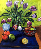 FRUIT AND FLOWERS, Oil Painting by maureen finck Artist
