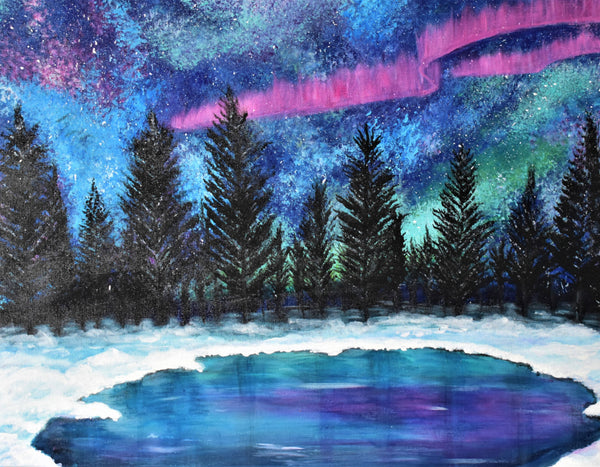 Aurora, Acrylic Painting by Kerry Sandhu Artist