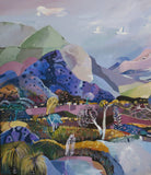 Mountain Terrain, Acrylic Painting by Susan Trudinger Artist